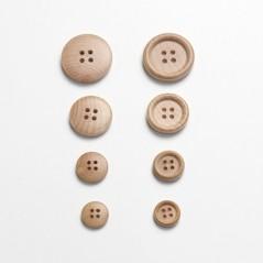 Botón Madera de Boj