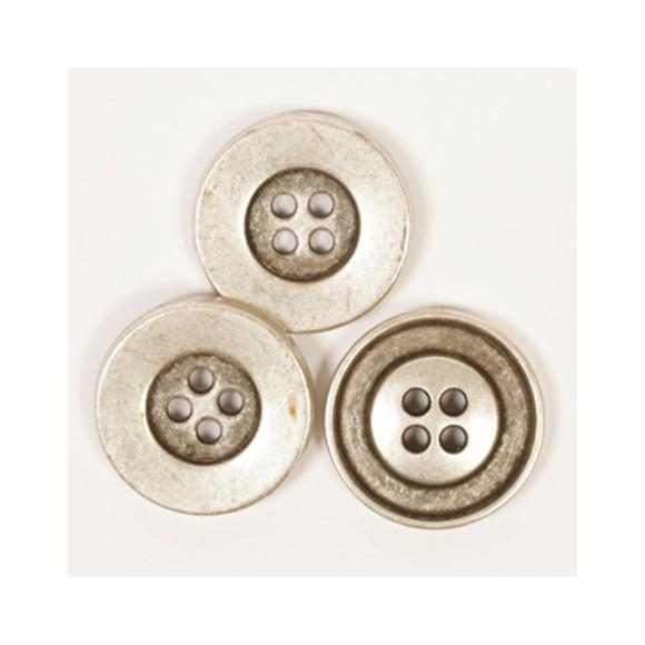 Botón Metal Plata DROPS Round