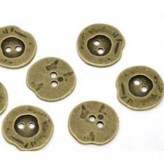 Botón Bronce Irregular