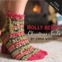 "Patrón ""Holly Berry Socks"""