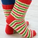 "Patrón ""Candy Canne Socks"""