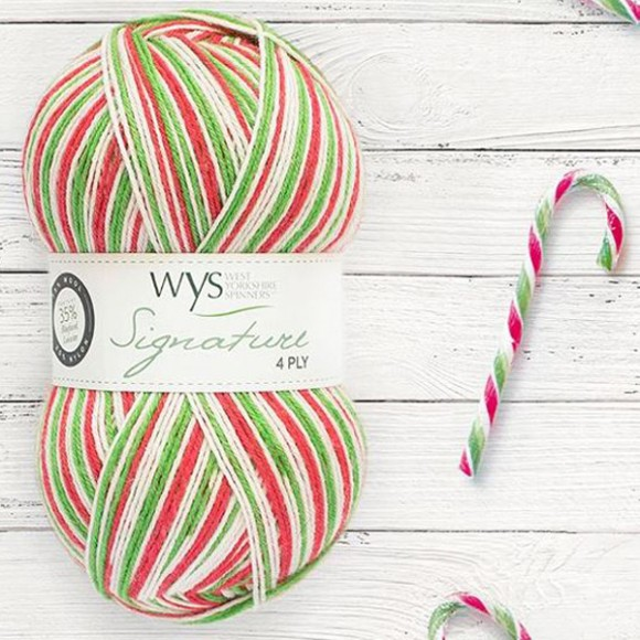 WYS Signature 4 Ply - 989 Candy Cane
