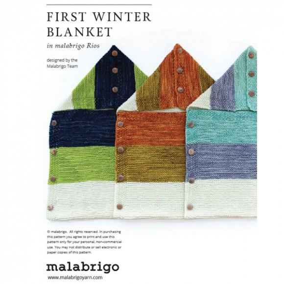 "Patrón ""First Winter Blanket"""