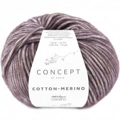 Katia Concept Cotton Merino 134 berenjena oscuro