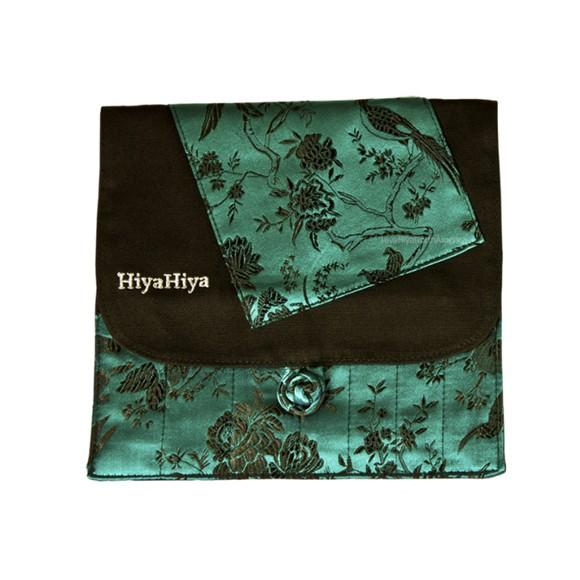 HiyaHiya Estuche brocado pájaros turquesa