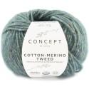 Katia Concept Cotton Merino Tweed 504 turquesa oscuro